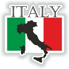 Italy Italia flag Sticker for Bumper Baggage Travel Door Laptop Tablet Car Truck