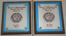Vintage Tang Soo Do Karate Championship Plaques – Phoenix 1994 – Heavy Wood Base