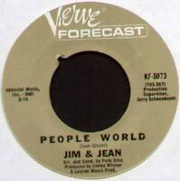 "JIM & JEAN ~ PEOPLE WORLD / TIME GOES BACKWARDS ~ 1967 US 7"" SINGLE"