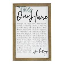 Stratton Home Decor Our Home Metal and Wood Wall Art