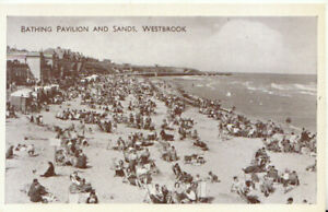 Kent Postcard - Bathing Pavilion and Sands - Westbrook - Ref TZ6125