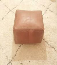 Authentic MOROCCAN SQUARE POUF Leather Pouf Ottoman Pouffe footst