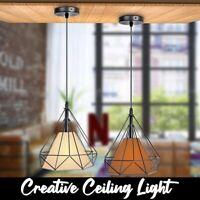 Modern Vintage Industrial Cage Hanging Ceiling Pendant Light Holder Lamp Shade