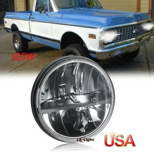 """DOT Approved 7"""" Led Round Headlight High-Low Sealed Beam for Chevy LUV Truck K10"""