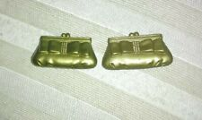 Barbie Or Same Size Doll'S Gold Hand Purse'S