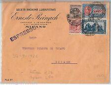 64167 - ITALIA REGNO - STORIA POSTALE : ESPRESSO #13 su  BUSTA - PERFIN! 1926