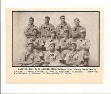 Capital City Jackson Mississippi Baseball 1907 Team Picture RARE