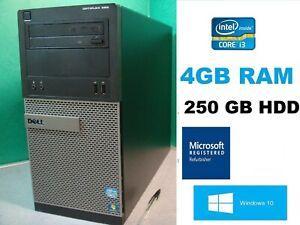 Dell Optiplex 390 Tower Core i3 DVD RW WIFI HDMI Windows 10