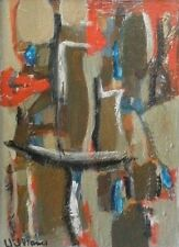 OLD VINTAGE AMERICAN ABSTRACT SIGNED WILLIAMS ORIGINAL OIL PAINTING