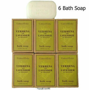 CRABTREE and Evelyn 6 Verbena and Lavender BATH Soap Bar 1.25 oz ea (Lot of 6)