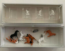 Preiser Z Scale Horses & Sheep with Shepard- Displayed 8857 88578