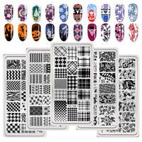 BORN PRETTY Nail Art Stamping Plates Christmas Halloween Geometry Rose Templates