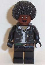 Lego Male Minifigure x 1 Leather Jacket with Red Brown Face & Black Afro Hair