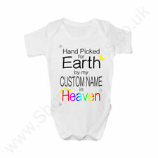 Hand Picked For Earth Custom Name Personalised Baby Grow - Rainbow Baby