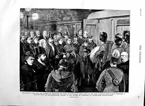 Old Antique Print 1883 Duke Connaught India Peter Smith Charing Railway 19th