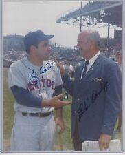 Yogi Berra Autographed New York Mets George Brace 8x10 Photo JSA COA w/Appling