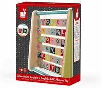 Janod Baby Forest Wooden Alphabet Abacus Toy, English Version. ABC Leanring Aid