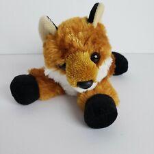 Aurora Fox Plush Stuffed Animal Toy Brown White Black Small 6in