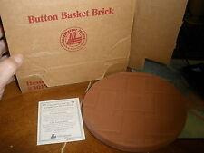 Longaberger Button Basket Brick New