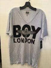 BOY London big v neck sz xl NEW Mens T-shirt Light Blue