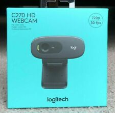 NEW Logitech C270 HD 720p Webcam Black - In Hand Ready to Ship