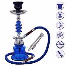 Wasserpfeife Shisha Nargile Set ca.35cm Orientalisch Hookah mit Schlauch blau