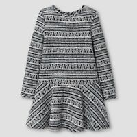 Girls' A Line Dress Ebony White Genuine Kids from OshKosh, Size 12M, 18M, 2T, 3T