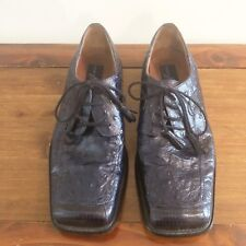 Giorgio Brutini Private Collection Dark Blue Ostrich Dress Shoes Mens Size 8.5M