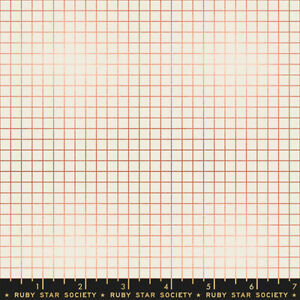 Ruby Star Society Grid Copper SKU RS3005 13M Moda Quilting Cotton Fabric