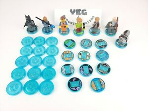 Lot of 32 Lego Dimensions Cyborg Batman Shaggy Figure & Base/Disc All Consoles