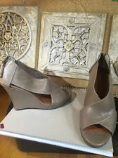Halogen Open Wedge Shies Genuine Leather Sz 7M