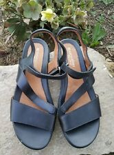 8.5 Naturalizer Women's Black Strappy Sandals Shoes N5 Comfort Comfortable