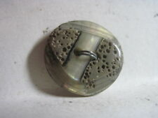 New listing Vintage 60'S/70'S Gray Moonglow 'Abalone' Abstract Db Side Lucite/Acrylic Button