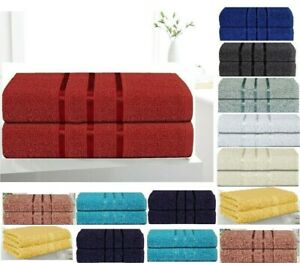 2 Piece EXTRA LARGE Bathroom TOWELS Bath Sheets Soft Egyptian Cotton 500GSM XL 2