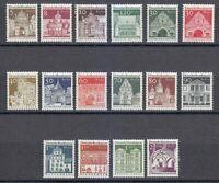 Berlin 1966-1969 MNH Mi 270-285 Sc 9N235-9N250 German famous buildings **