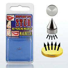 Fake Magnet Nose Piercing No Hole Lips Ear Lace Silver @ Nose Stud 5 mm