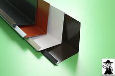 Wandanschlußblech Dach Dachblech Alu Aluminium farbig 2 m lang 0,7 mm stark