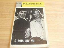 Playbill Program 6 RMS RIV VU Helen Hayes Theatre 1972 Jerry Orbach