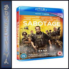 SABOTAGE - Arnold Schwarzenegger  ***BRAND NEW BLU-RAY **