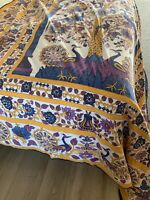 Urban Outfitters CoverletLight Weight Purple Gold Floral Queen Full Tapestry