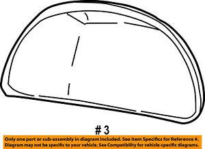 FORD OEM Door Side Rear View-Mirror Cover Cap Trim Left F7TZ17D743BB