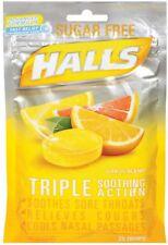 Halls Mentho-Lyptus Drops Sugar Free Citrus Blend 25 Each (Pack of 9)