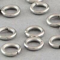 6mm Silver Stainless Steel Closed Jump Rings Finding Connector Jewelry Making 21