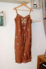 Magnifique robe lin mélangé bretelles réglable René Derhy  taille S  36 / 38 cm9