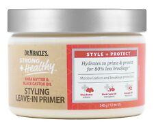Dr.Miracles Shea Butter & Black Castor Oil Styling Leave-in Primer 12oz/340g