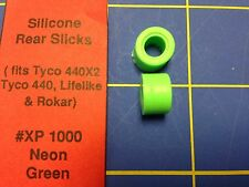 Silicone Tires Neon Green fit Tyco 440 440x2 Lifelike HXP 1000 Mid-America