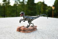 Realistic Blue Velociraptor Raptor Dinosaur Figure Toys Kids Animal Model Gift