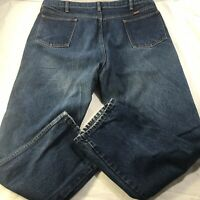 "Rustler Mens Jeans Vintage Blue Denim Distressed Thick Duty Pants 40 X 30"""