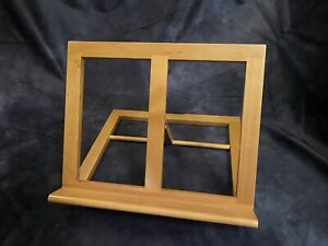 LEVENGER Book Stand or Music Stand Natural Cherry Wood ~ EXCELLENT Condition