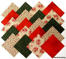"""40 4"""" COUNTRY ROSE Fabric Quilt Squares Quilting Roses Floral Calico Material"""